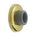 Deltana Solid Brass 2 1/2 Inch Diameter, Concave Wall Mount Bumper