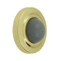 Deltana Solid Brass 2 1/2 Inch Diameter, Convex Flush Mounted Bumper