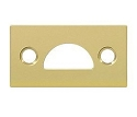 Deltana Solid Brass Mortise Strike for Surface Bolts