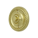 Deltana Solid Brass Round Rope Bell Button