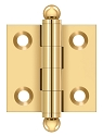 Deltana 1-1/2 x 1-1/2 Inch Hinge with Ball Tips