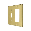 Deltana Solid Brass Single Switch/Single Rocker Switch Plate