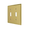 Deltana Solid Brass Double Standard Switch Plate