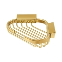 Deltana Solid Brass 6 Inch Triangular Corner Wire Basket