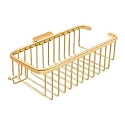 Deltana Solid Brass 10 Inch Deep Rectangular Corner Wire Basket with Hook