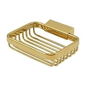 Deltana Solid Brass Heavy Duty 4-3/4 Inch Rectangular Wire Basket Soap Holder