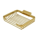 Deltana Solid Brass 6 Inch Rectangular Wire Basket Soap Holder