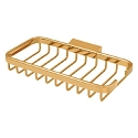 Deltana Solid Brass 8 Inch Rectangular Corner Wire Basket