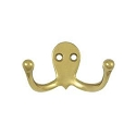 Deltana Solid Brass Double Hook