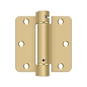 Deltana 3 1/2 x 3 1/2 Inch 1/4 Inch Radius Corner Single Action, Steel Spring Hinge - Pair