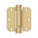Deltana 3 1/2 x 3 1/2 Inch 5/8 Inch Radius Corner Single Action, Steel Spring Hinge - Pair