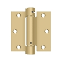 Deltana 3 1/2 x 3 1/2 Inch Square Corner Single Action, Steel Spring Hinge