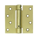 Deltana 4 x 4 Inch Square Corner Single Action, Steel Spring Hinge - Pair