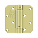 Deltana 4 x 4 Inch 5/8 Inch Radius Corner Single Action, Steel Spring Benchmark Hinge - Each
