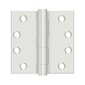 Deltana 4 x 4 Inch Square Corner Steel Heavy Duty Hinge - Pair