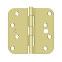 Deltana 4 x 4 Inch 5/8 Inch Radius Corner Security Steel Hinge - Pair
