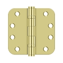 Deltana 4 x 4 Inch 5/8 Inch Radius Corner Heavy Duty, Ball Bearings Steel Hinge - Pair