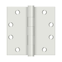 Deltana 4 1/2 x 4 1/2 Inch Square Corner Heavy Duty Ball Bearing Steel Hinge - Pair