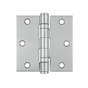Deltana 3 1/2 x 3 1/2 Inch Stainless Steel, 2 Ball Bearing Square Corner Hinge - Pair