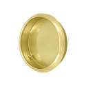 Deltana Solid Brass 2 1/8 Inch Diameter Round Heavy Duty Flush Pull