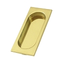 Deltana Solid Brass Large 3 7/8 x 1 5/8 x 3/8 Inch Flush Pull