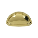 Deltana Solid Brass 3 1/2 Inch Oval Shell Pull