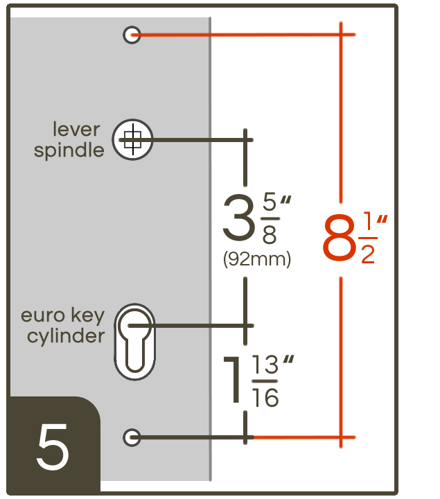Emtek Configuration 5 Multi Point Lock