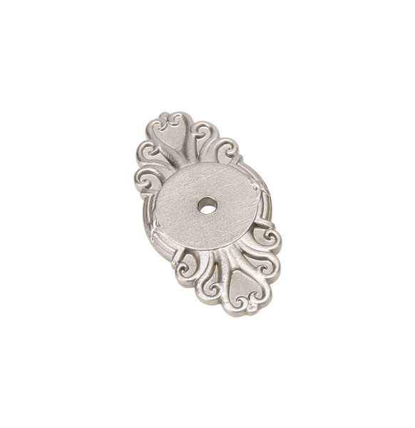 Kitchen Cabinet Knobs With Backplates EM86293 Ribbon Reed Back Plate For Emtek Cabinet Knobs