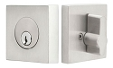 Emtek Square Stainless Steel Single Cylinder Deadbolt