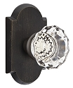 Emtek Astoria Clear Knob with Sandcast Style 1 Rosette