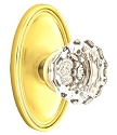 Emtek Astoria Clear Knob with Oval Rosette