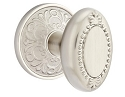 Emtek Oval Beaded Egg Knob with Lancaster Rosette