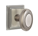 Emtek Oval Beaded Egg Knob with Wilshire Rosette