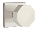Emtek Octagon Modern Door Knob with Square Rosette