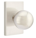 Emtek Orb Modern Door Knob with Modern Rectangular Rosette