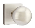 Emtek Orb Modern Door Knob with Square Rosette