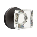 Emtek Square Crystal Knob with Disk Rosette