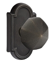 Emtek Lost Wax Octagon Knob with Style 11 Rosette
