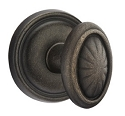 Emtek Lost Wax Parma Door Knob with Style 12 Rosette