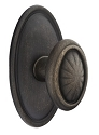 Emtek Lost Wax Parma Door Knob with Style 14 Rosette