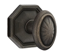 Emtek Lost Wax Parma Door Knob with Style 15 Rosette