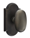 Emtek Sandcast Bronze Egg Door Knob with Style 1 Rosette