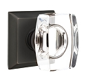 Emtek Windsor Crystal Knob with Quincy Rosette