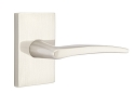 Emtek Poseidon Lever Handle with Modern Rectangular Rosette