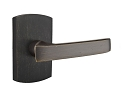 Emtek Sandcast Bronze Yuma Lever Handle with Style 4 Rosette