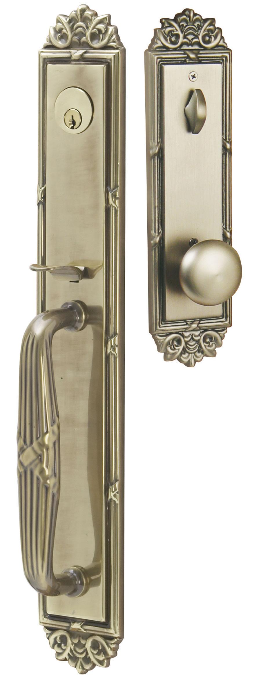 Emtek door hardware emtek imperial entrance handleset for Entry hardware