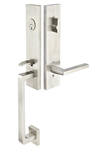 Emtek Davos Stainless Steel Entrance Handleset