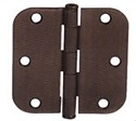 Emtek 3.5 Inch Residential Duty Door Hinges with 5/8 Inch Round Corners  (pair)