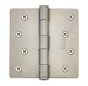 Emtek 4 Inch Residential Duty Door Hinges with 1/4 Inch Round Corners  (pair)