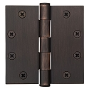 Emtek 4.5 Inch Heavy Duty Door Hinges with Square Corners  (pair)